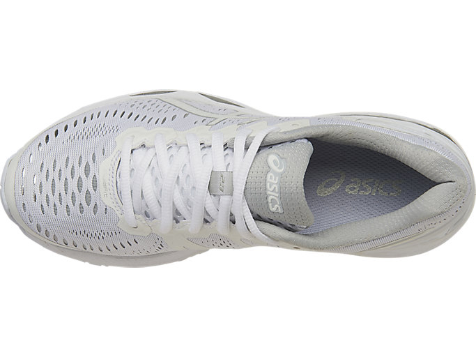 Top view of GEL-KAYANO 23, White/Snow/Silver