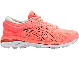 GEL-KAYANO 24, Flash Coral/Black/White