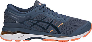 ASICS GEL KAYANO 24 - Stabilty running shoes - smoke blue/dark blue/canteloup