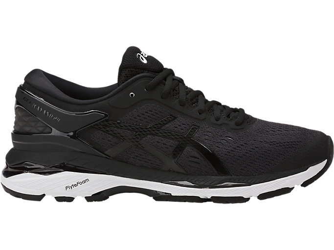 Right side view of GEL-KAYANO 24, BLACK/PHANTOM/WHITE