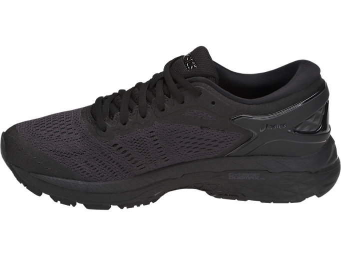 Left side view of GEL-KAYANO 24, BLACK/BLACK/CARBON