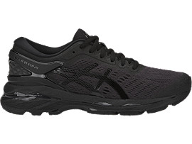 Right side view of GEL-KAYANO 24, BLACK/BLACK/CARBON