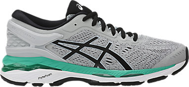 GEL-Kayano 24 | WOMEN | Mid Grey/Black/Atlantis | ASICS US