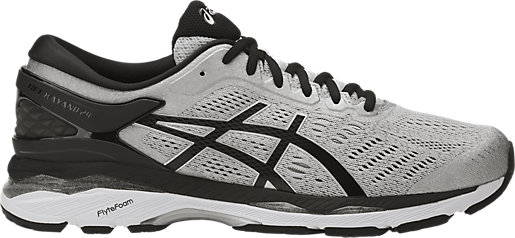 GEL-Kayano 24 (4E) Silver/Black/Mid Grey 3 RT