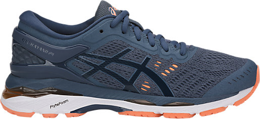 GEL-Kayano 24 (D) Smoke Blue/Dark Blue/Canteloupe 3 RT
