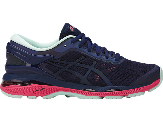 Right side view of GEL-KAYANO 24 LITE-SHOW, INDIGO BLUE/BLACK/REFLECTIVE