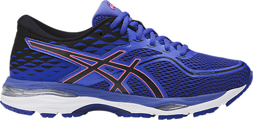 00 Asics Gel Cumulus 19 Scarpe Donna Blue Purple/Black/Flash Coral