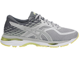 Right side view of GEL-CUMULUS 19, GLACIER GREY/SILVER/LIME LIGHT