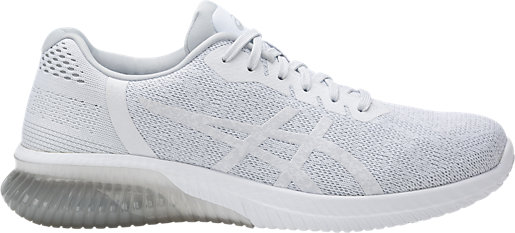 Discount Asics GEL Kenun White White Glacier Gray Running Shoes for Women Sale