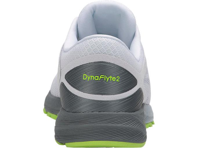 Back view of DynaFlyte 2, WHITE/BLACK/STONE GREY