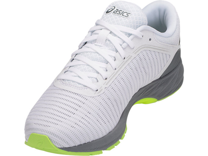 Front Left view of DynaFlyte 2, WHITE/BLACK/STONE GREY