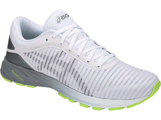 Front Right view of DynaFlyte 2, WHITE/BLACK/STONE GREY