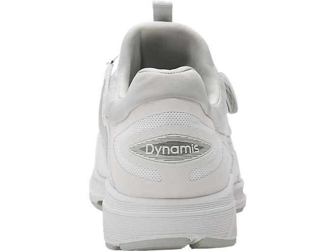 Back view of Dynamis, WHITE/SILVER/MID GREY