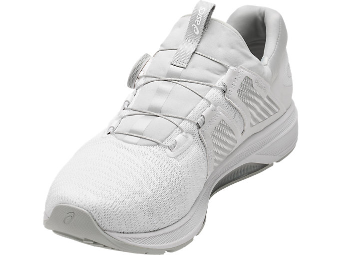 Front Left view of Dynamis, WHITE/SILVER/MID GREY