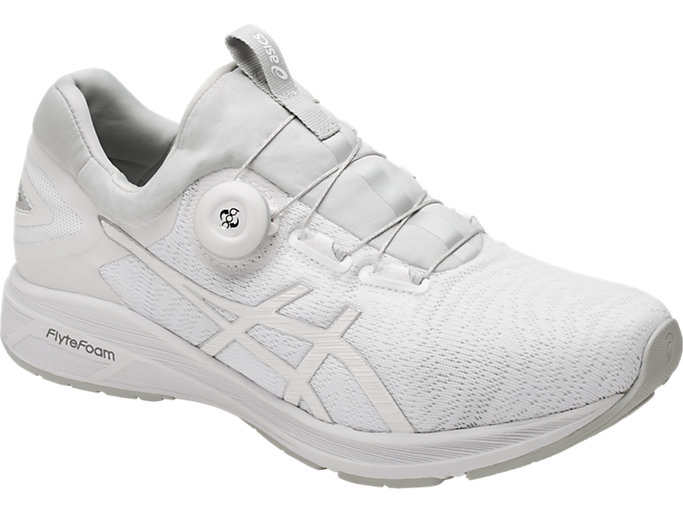 Front Right view of Dynamis, WHITE/SILVER/MID GREY