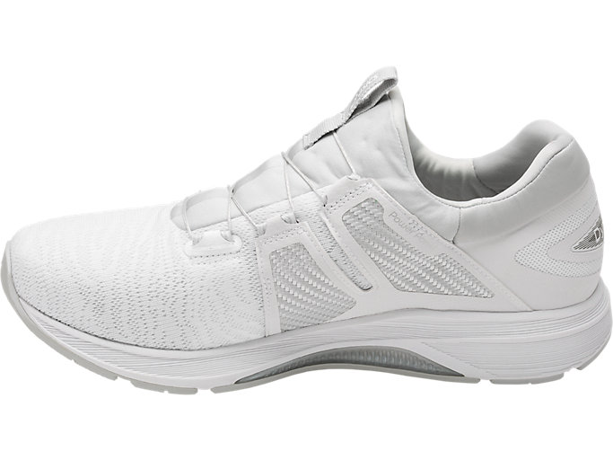 Left side view of Dynamis, WHITE/SILVER/MID GREY