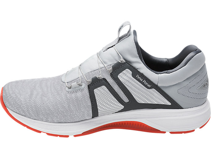Left side view of Dynamis, MID GREY/CARBON/WHITE