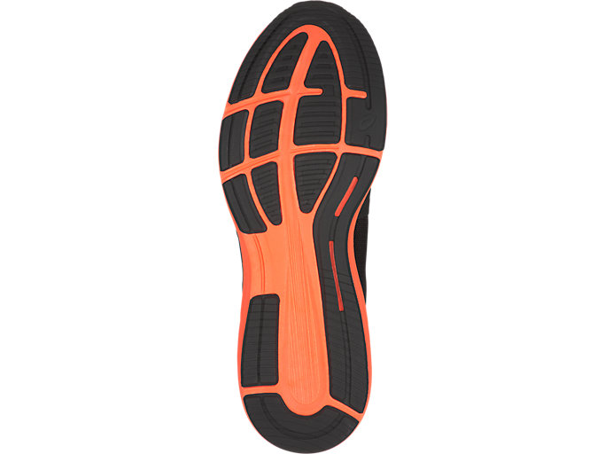 Bottom view of RoadHawk FF, Black/Hot Orange/White