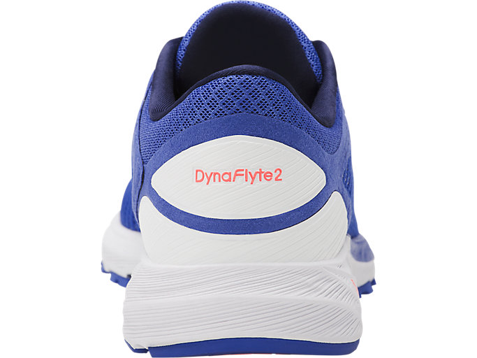 Back view of DynaFlyte 2, BLUE PURPLE/WHITE/INDIGO BLUE