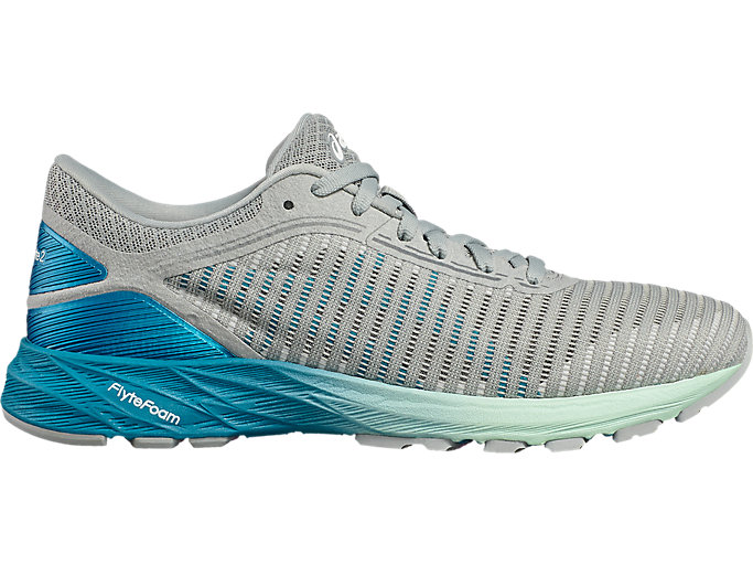 Right side view of DynaFlyte 2, MID GREY/ARCTIC AQUA/GLACIER S