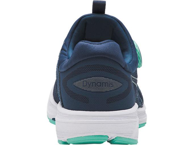 Back view of Dynamis, DARK BLUE/WHITE/OPAL GREEN