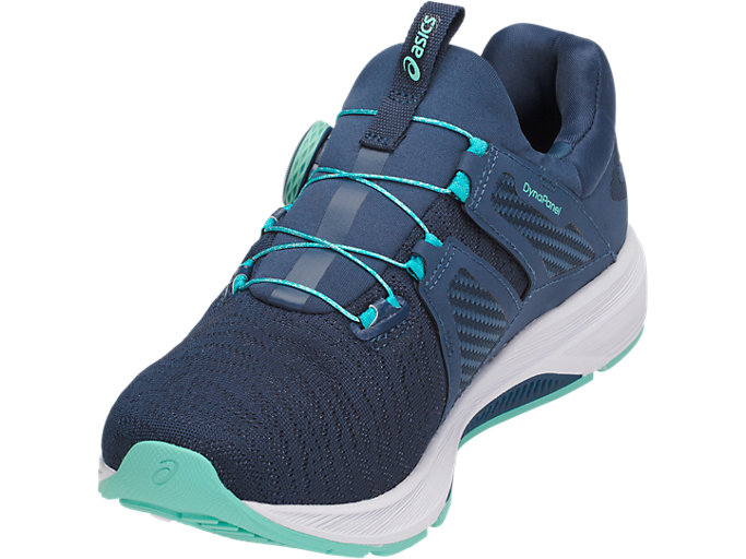 Front Left view of Dynamis, DARK BLUE/WHITE/OPAL GREEN