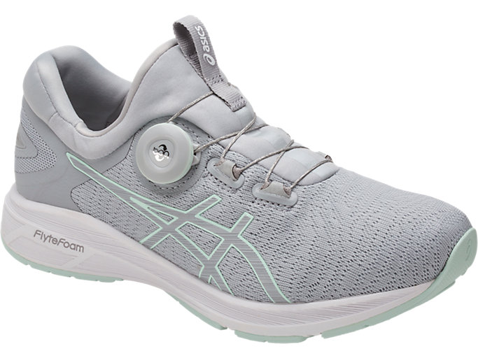Front Left view of Dynamis, MID GREY/GLACIER GREY/WHITE