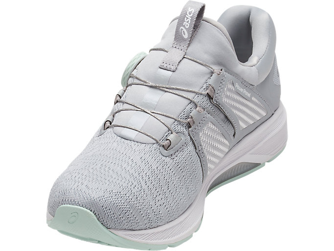 Front Right view of Dynamis, MID GREY/GLACIER GREY/WHITE