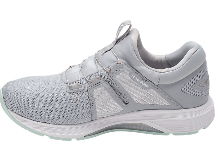 Left side view of Dynamis, MID GREY/GLACIER GREY/WHITE