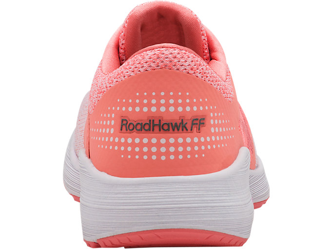 Back view of RoadHawk FF, BEGONIA PINK/PINK GLO/WHITE