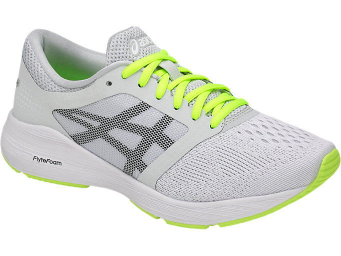 Front Right view of RoadHawk FF, Glacier Grey/Black/Safety Yellow