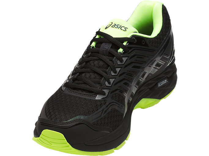 Front Right view of GT-2000 5 LITE-SHOW Herren Straßenlauf Schuhe, Black/Safety Yellow/Reflective