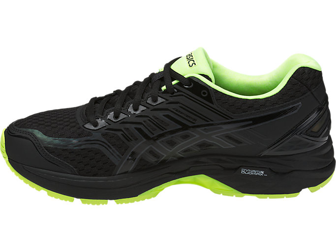 Left side view of GT-2000 5 LITE-SHOW Herren Straßenlauf Schuhe, Black/Safety Yellow/Reflective