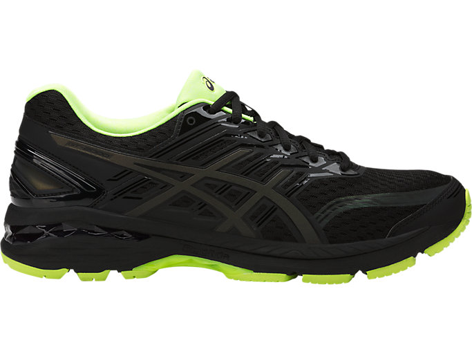 Right side view of GT-2000 5 LITE-SHOW Herren Straßenlauf Schuhe, Black/Safety Yellow/Reflective