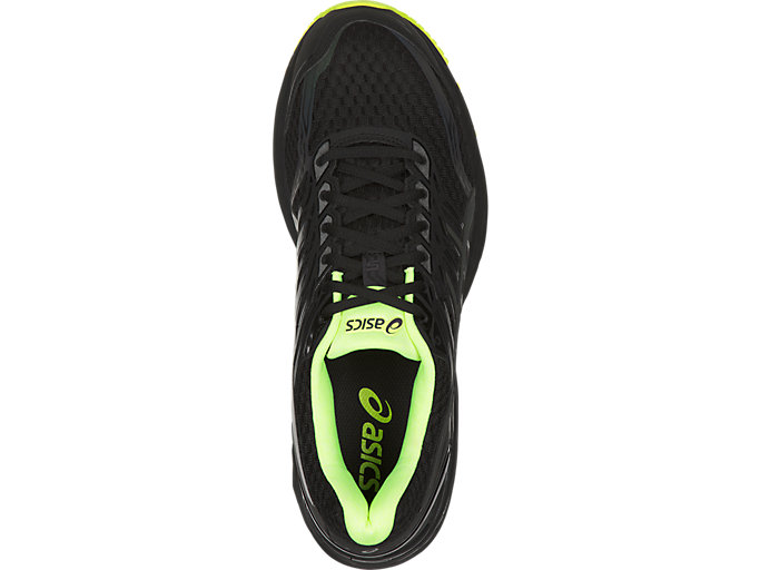 Top view of GT-2000 5 LITE-SHOW Herren Straßenlauf Schuhe, Black/Safety Yellow/Reflective