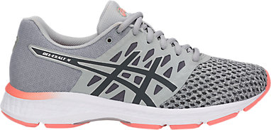 ASICS GEL EXALT Laufschuhe Damen in mid grey carbon begonia