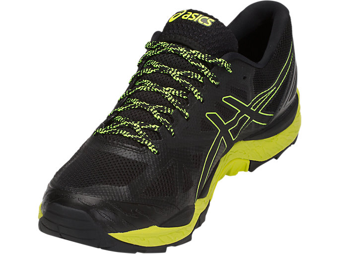 Front Left view of GEL-FujiTrabuco 6 G-TX, BLACK/SAFETY YELLOW/BLACK