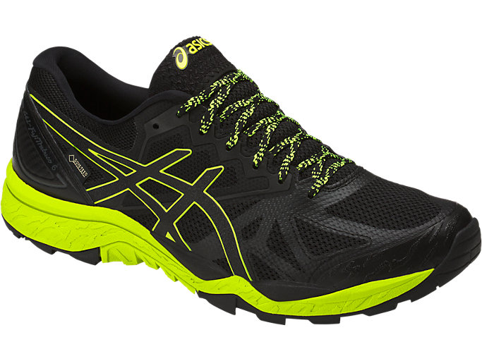 Front Right view of GEL-FujiTrabuco 6 G-TX, BLACK/SAFETY YELLOW/BLACK