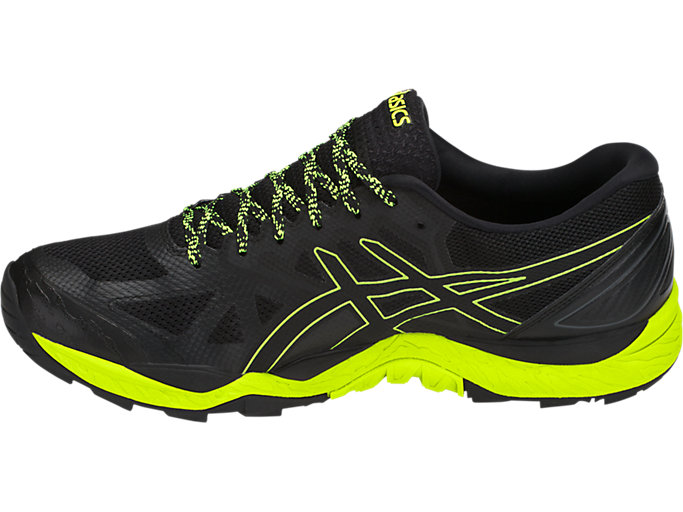 Left side view of GEL-FujiTrabuco 6 G-TX, BLACK/SAFETY YELLOW/BLACK