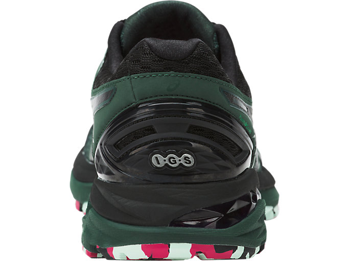 Back view of GT-2000 5 TRAIL PLASMAGUARD, Hampton Green/Black/Cosmo Pink