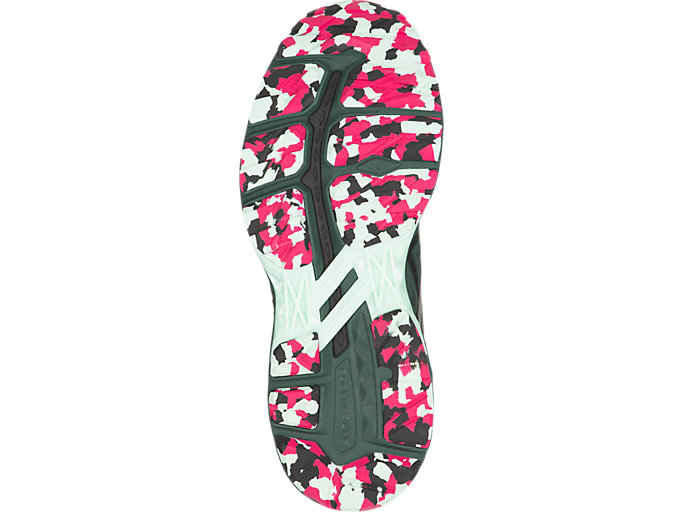 Bottom view of GT-2000 5 TRAIL PLASMAGUARD, Hampton Green/Black/Cosmo Pink