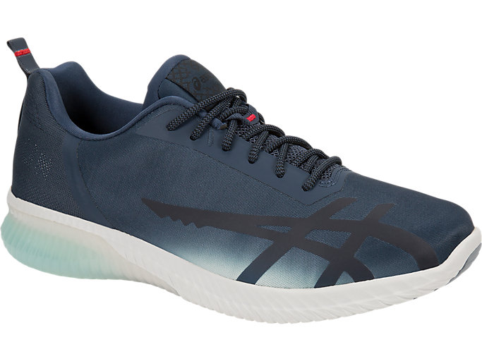 Front Right view of GEL-KENUN SHINKAI, Midnight Navy/Icicle/Soothing Sea