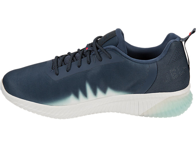 Left side view of GEL-KENUN SHINKAI, Midnight Navy/Icicle/Soothing Sea