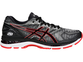 GEL-NIMBUS 20, BLACK/RED ALERT