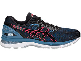 Right side view of GEL-NIMBUS 20, BLACK/AZURE