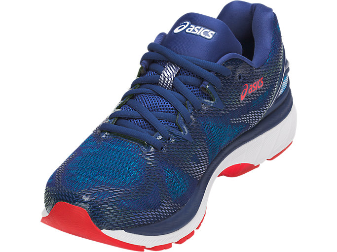 Front Left view of GEL-NIMBUS 20, BLUE PRINT/RACE BLUE