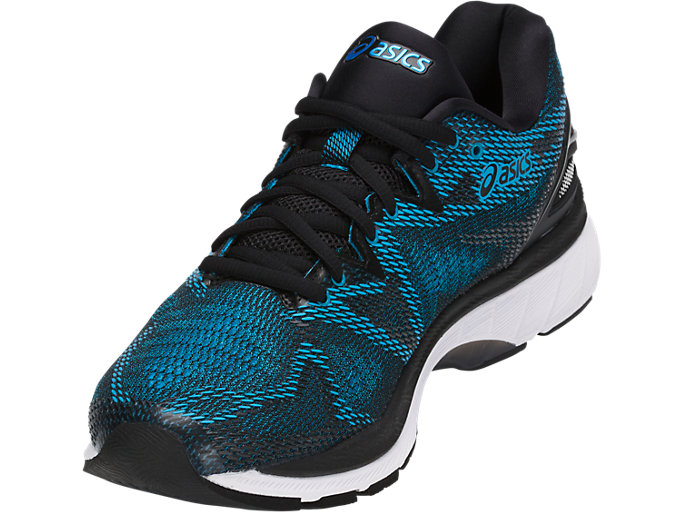 Front Left view of GEL-NIMBUS 20, ISLAND BLUE/WHITE/BLACK
