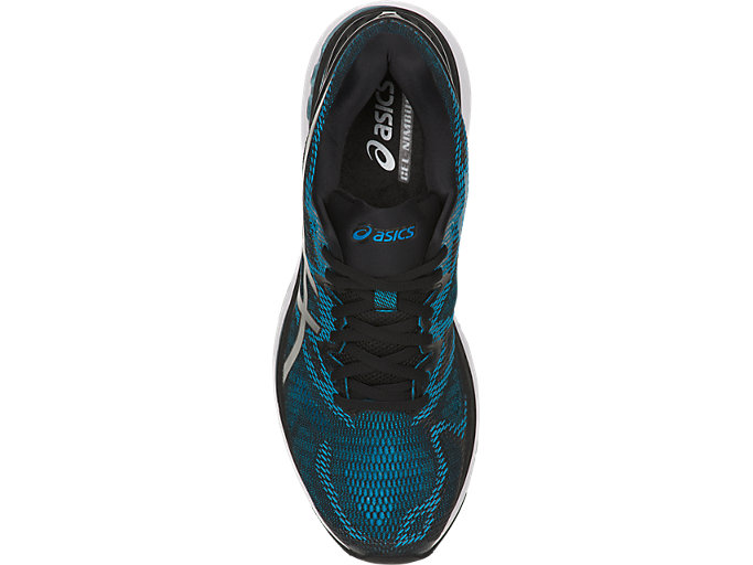 Top view of GEL-NIMBUS 20, ISLAND BLUE/WHITE/BLACK