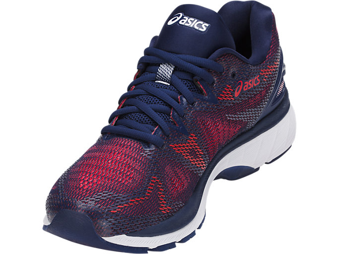 Front Left view of GEL-NIMBUS 20, INDIGO BLUE/INDIGO BLUE/FIERY RED