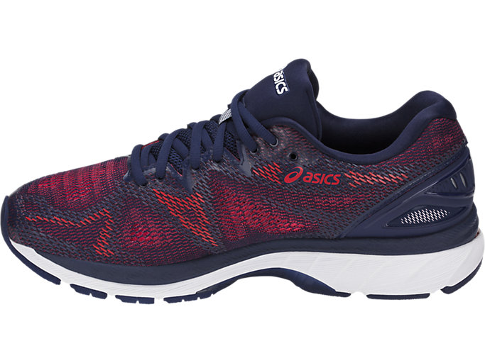 Left side view of GEL-NIMBUS 20, INDIGO BLUE/INDIGO BLUE/FIERY RED
